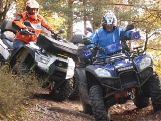 REPERAGE EN QUAD EN ARDECHE A TALENCIEUX