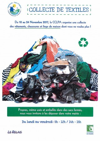 COLLECTE DE TEXTILES POUR LE TELETHON