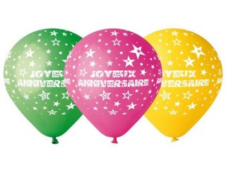 Ballon Latex 35 cm Joyeux Anniversaire