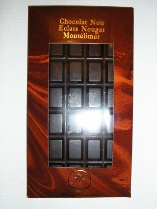 Chocolat noir éclats de nougat de Montélimar