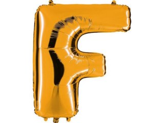 Ballon Lettre F doré