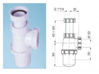 Siphon de lavabo NF