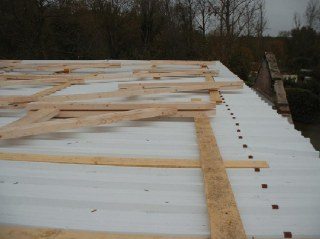 Fabrication des fermes de toit
