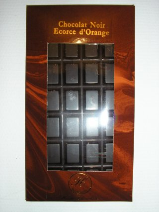 Chocolat noir écorces d'orange