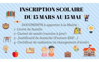 INSCRIPTION SCOLAIRE