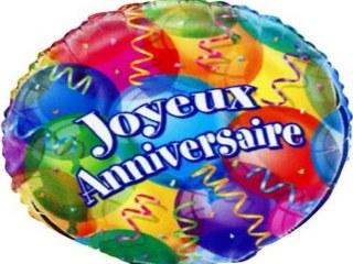Ballon Mylar 45 cm Joyeux Anniversaire
