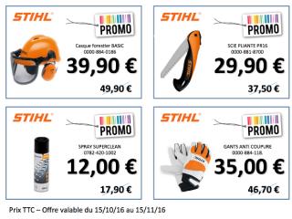 Promotion accessoires STIHL