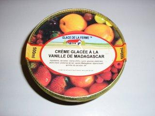 Crème glacée à la vanille de Madagascar