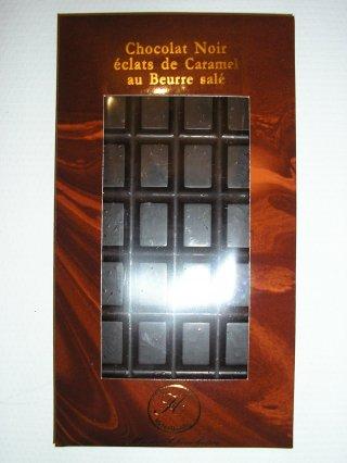Chocolat noir éclats de caramel au beurre salé