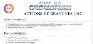 ACTIONS DE BRANCHES 2017