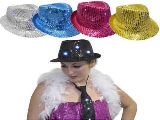 Chapeaux Disco à Leds