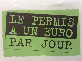 PERMIS  A 1 EURO