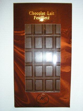 Chocolat au lait feuilleté