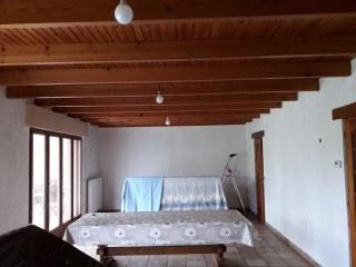 peinture plafond et papier peint séjour Hauteville