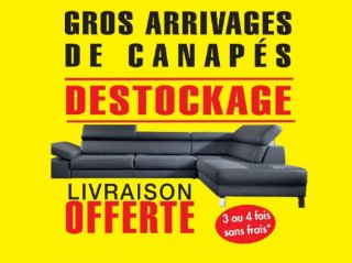 DESTOCKAGE CANAPES NEUFS