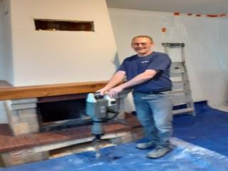 rénovation cheminée Aubigny