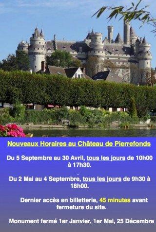 Horaires Château de Pierrefonds
