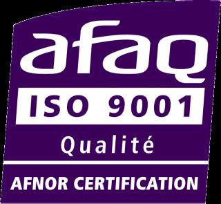 Certification ISO 9001 obtenue en novembre 2015