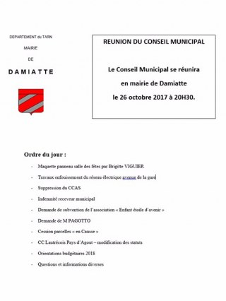 Réunion du conseil municipal