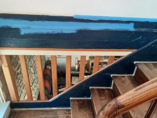 peinture mur et escalier