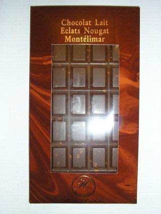 Chocolat au lait éclats de nougat de Montélimar
