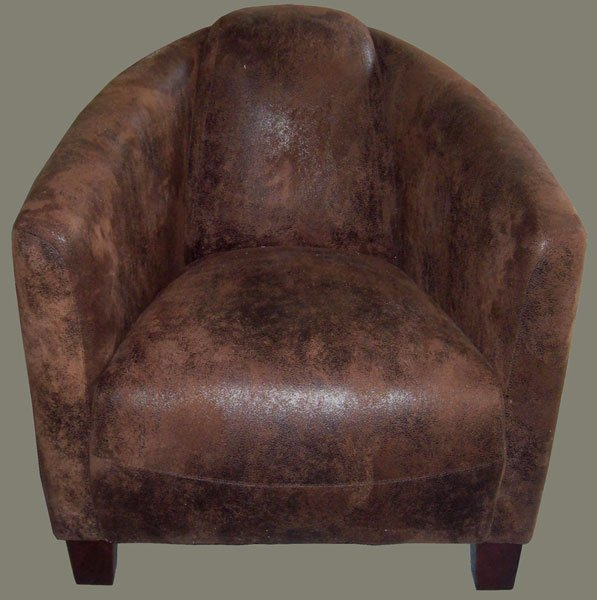fauteuil club barquette chocolat