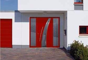 Porte entrée Thermosafe avec parties latérales