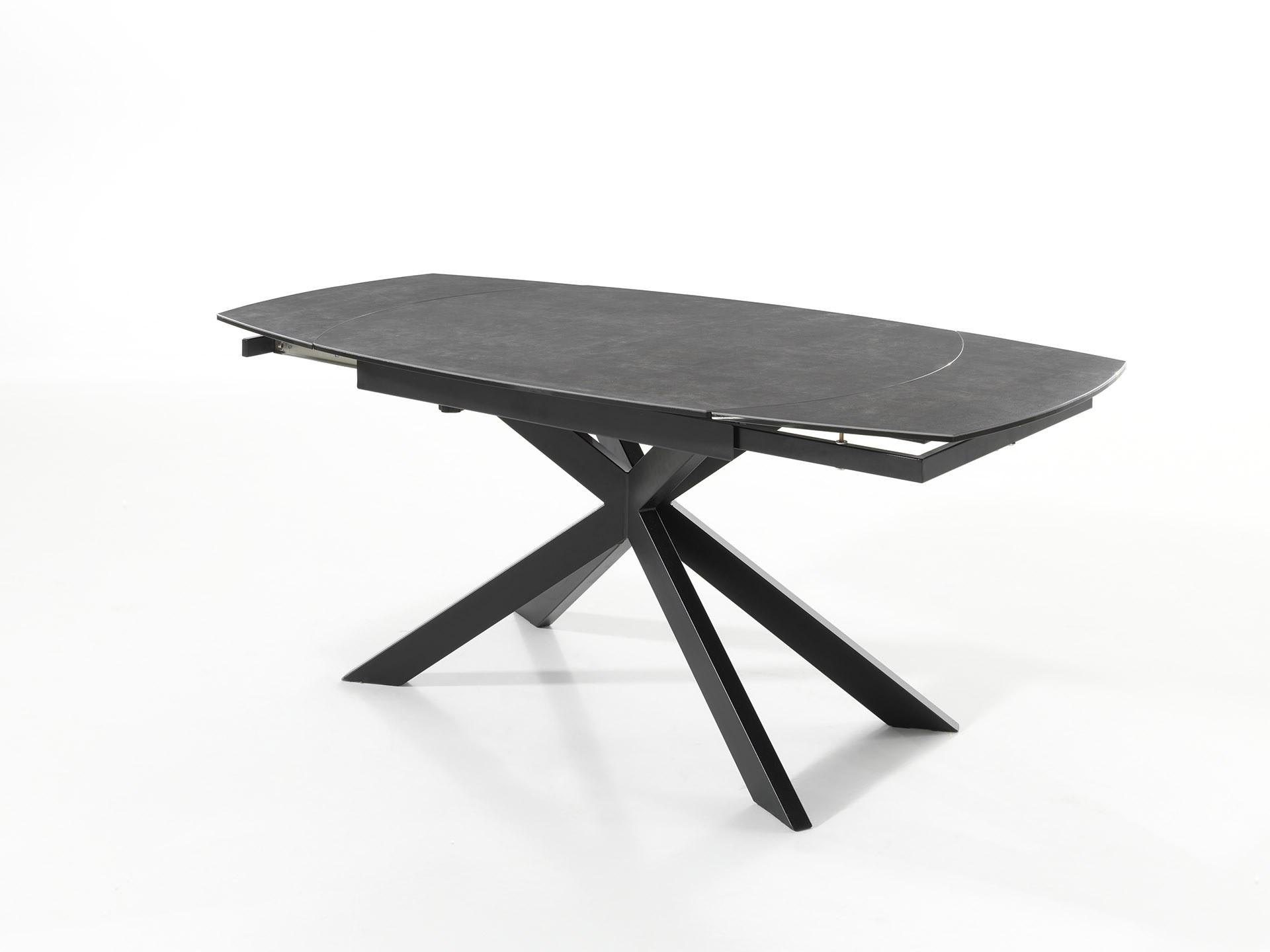 Table jeremy G ceramique pieds métal