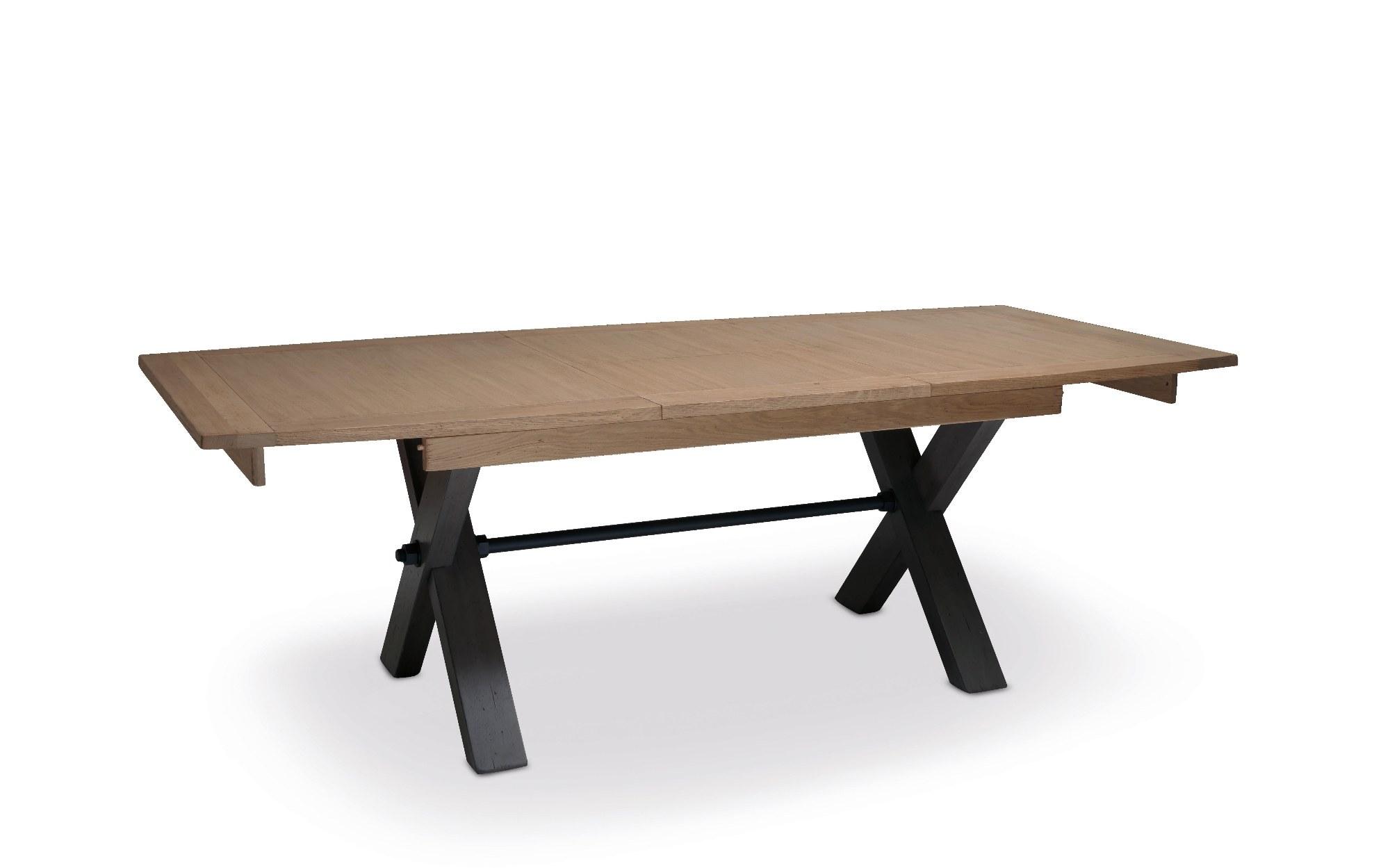 MAGELLAN TABLE PIED X PLATEAU BOIS ALLONGE