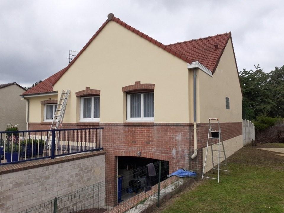 peinture façade et muret Dainville