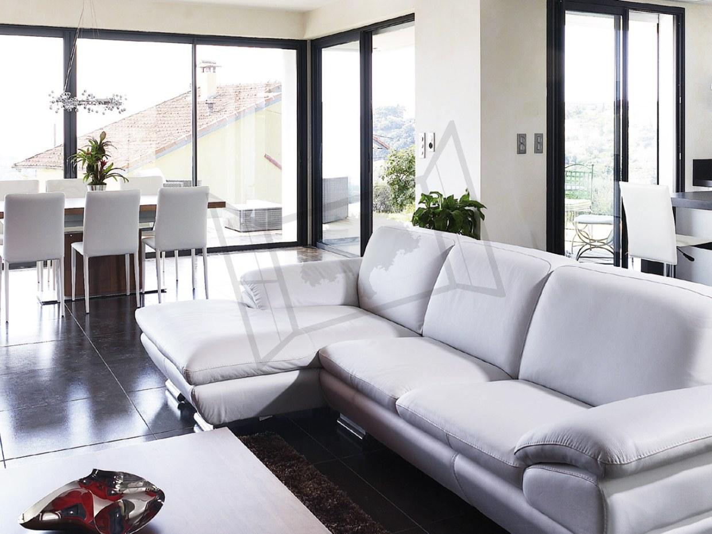 coulissant alu design canapé cuir prefal esprit