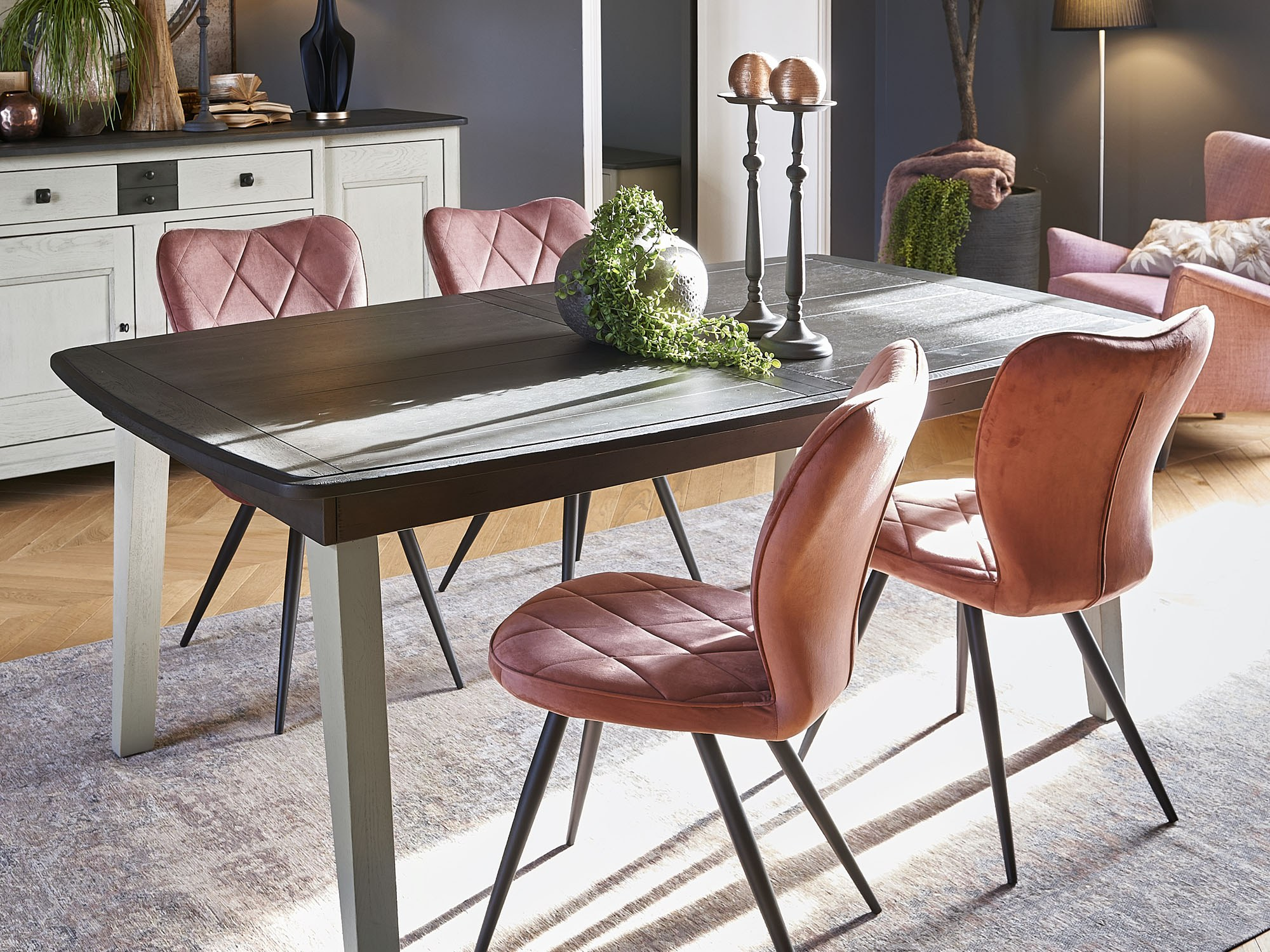 séraphine table chêne massif pieds bois