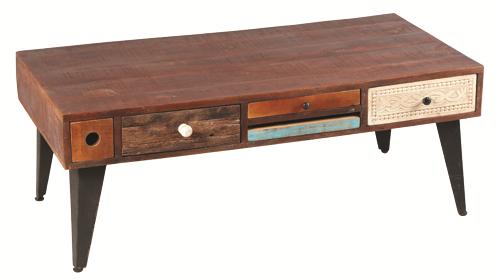 Table basse bois noyer foncé Réf:1854