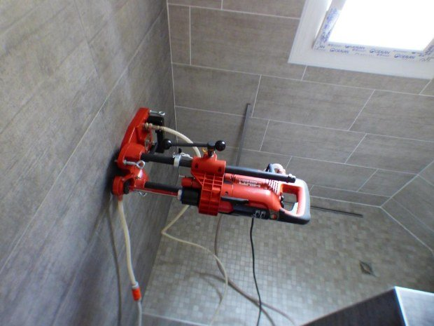 technique de perçage du grés cérame