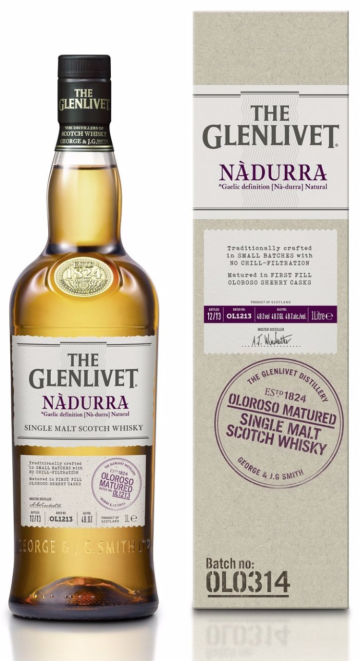 WHISKY THE GLENLIVET NADURRA OLOROSO MATURED LA CENTRALE DES VINS