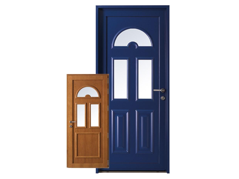 Porte d'entrée mixte bois alu tendance design renovation esprit