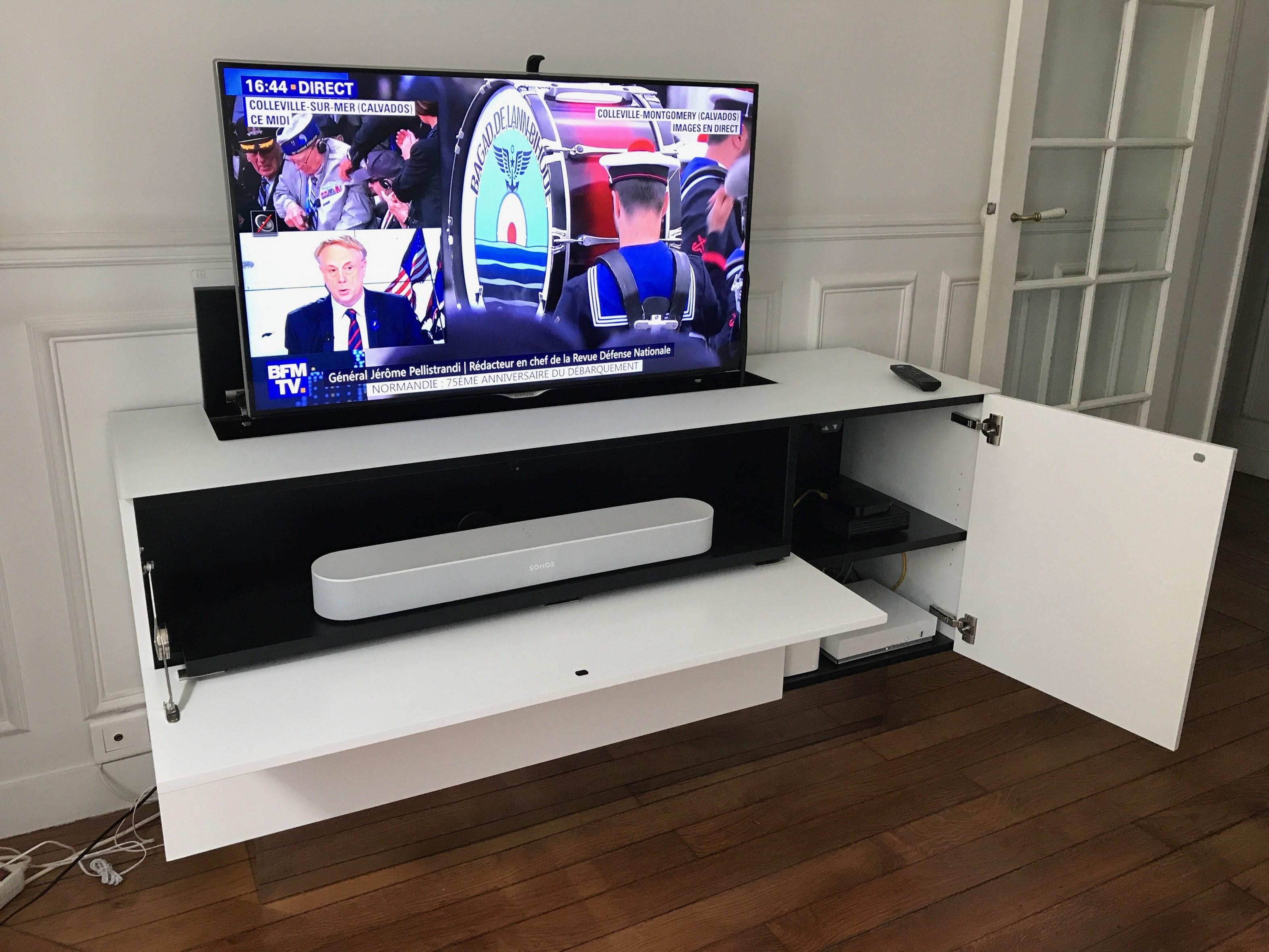 LES BUFFETS MEUBLES TV MOTORISES