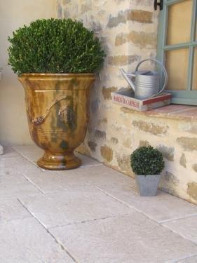 Vase d'Anduze flammé