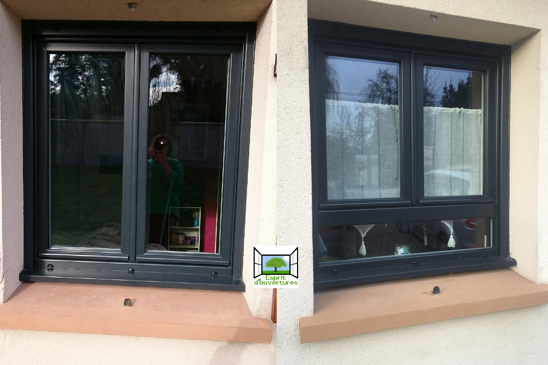 fenetre allège gris antracithe 7016 PVC design zendow esprit d'ouvertures