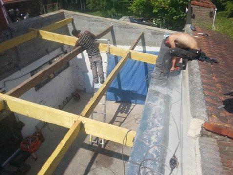 Toiture bac acier jp toiture toiture neuve et r novation for Charpente pour bac acier toiture