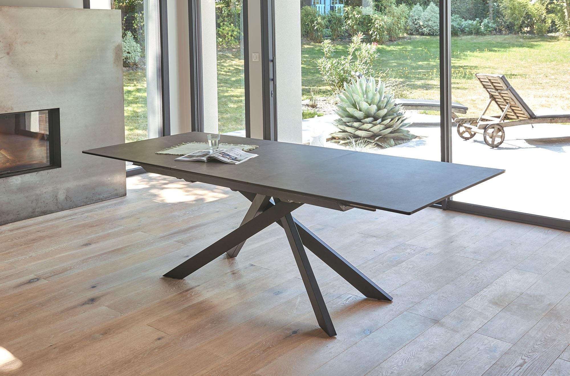 table céramique rectangulaire allonge