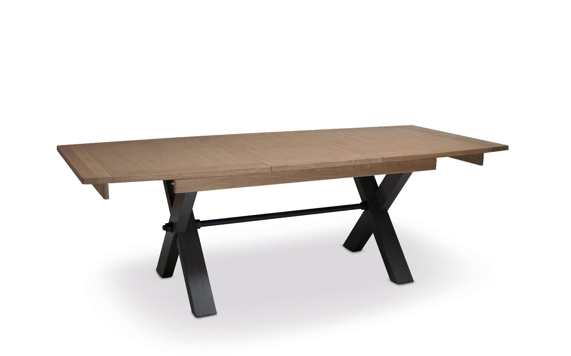 MAGELLAN TABLE PIED X DESSUS BOIS  allonge