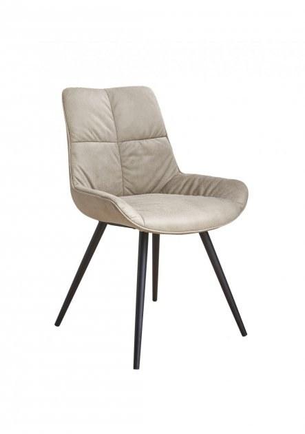 chaise tissu piétement métal