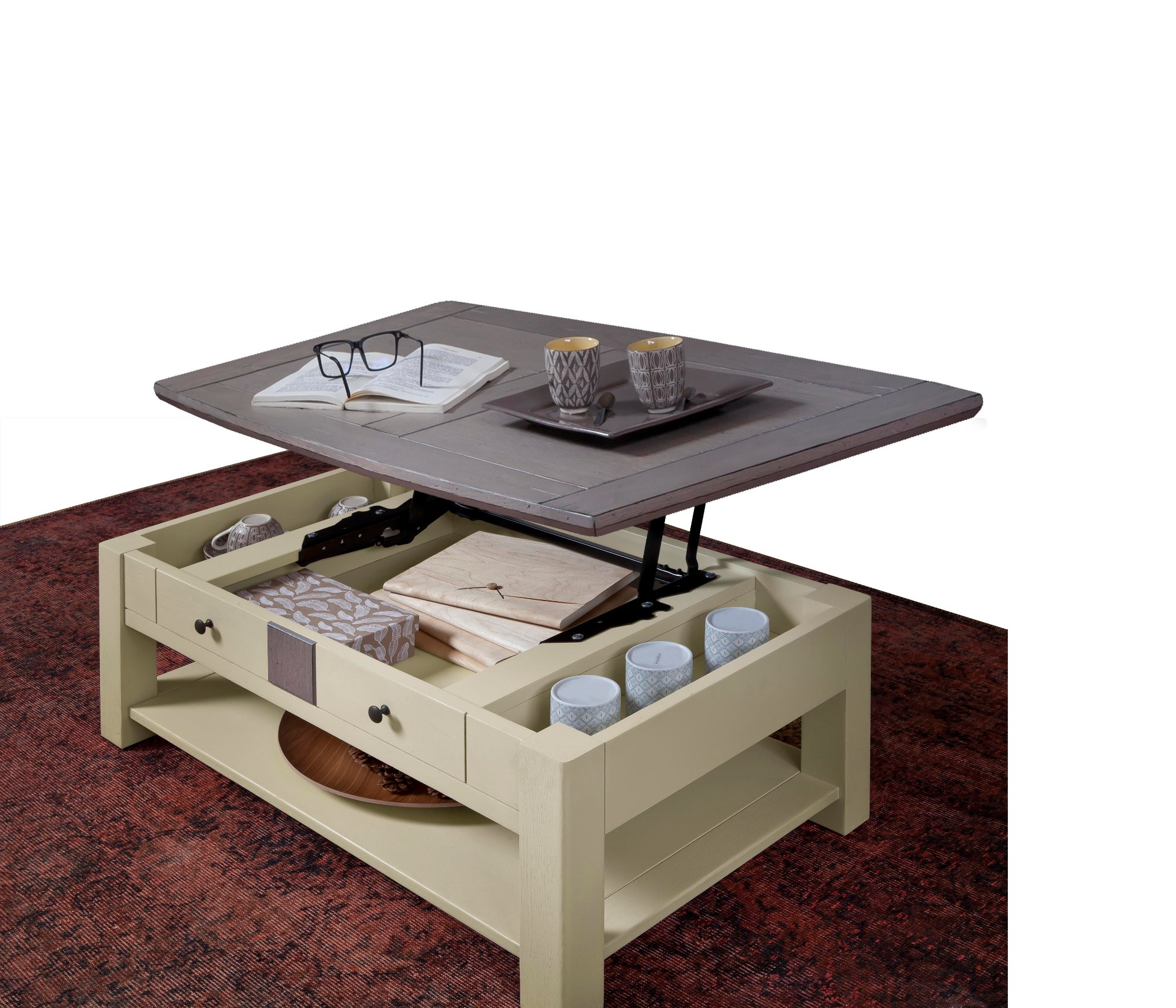 MAGELLAN TABLE BASSE DINETTE PLATEAU RELEVANT