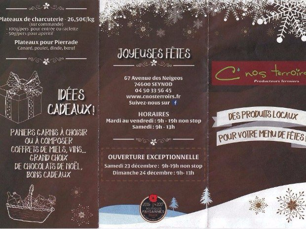 flyer produits festifs