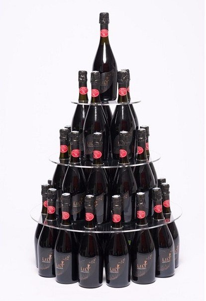 lps packaging - pyramide champagne bouteille