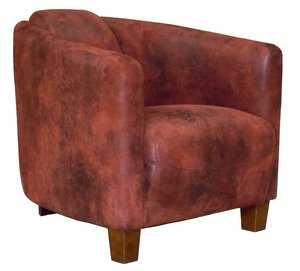 fauteuil club barquette rouge