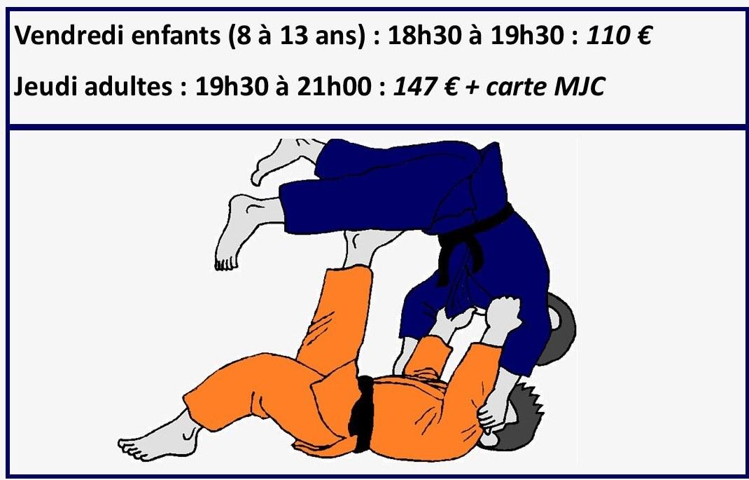 JU JITSU ART MARTIAL SPORT DE COMBAT MJC DES BLANCHETTES 71000 MACON PAS CHER PRIX BAS