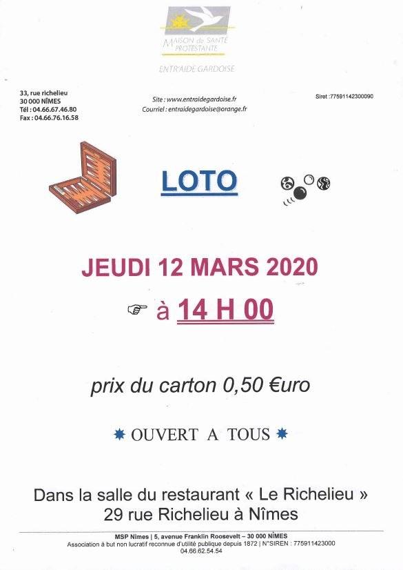 Loto - Entr'Aide Gardoise - Nîmes