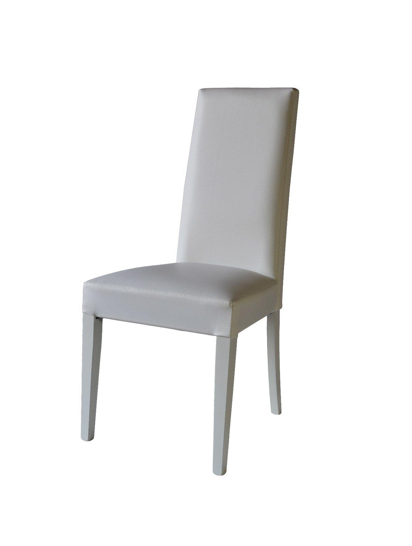 chaise gloria blanc